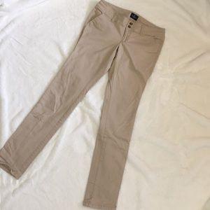American Eagle Skinny X Long Khaki Size 8
